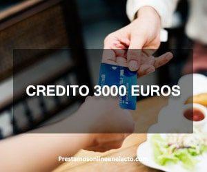 Credito 3000 euros