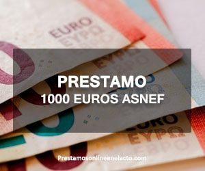 Prestamo 1000 euros ASNEF