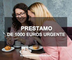 Prestamo de 1000 euros urgente