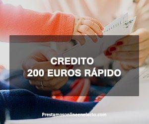 credito 200 euros rápido