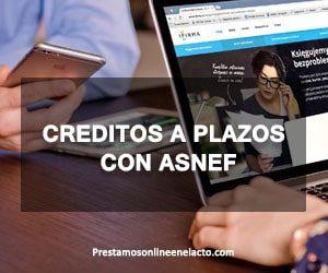 creditos a plazos con ASNEF