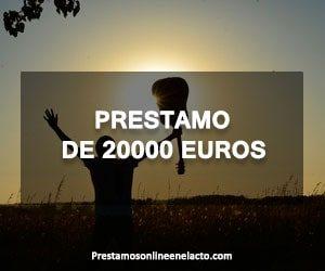 Prestamo de 20000 euros