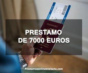 prestamo de 7000 euros