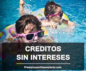 creditos sin intereses