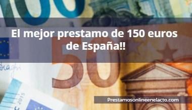 prestamo 150 euros